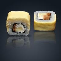 Запеченный ролл 3 сыра с угрем (Акция)